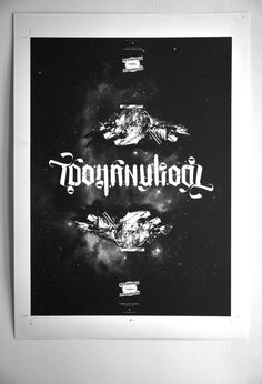 TOO MANY KEYS Reversible Poster - Say What #ambigram #poster #typography