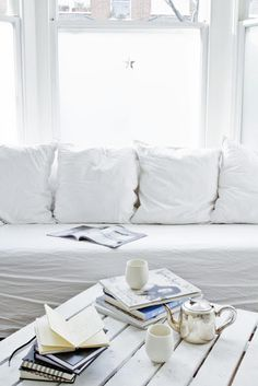 CJWHO ™ (White Livingroom | Photography: François...) #white #cozy #design #living #interiors #luxury #photography #room