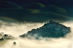Photograph Morning atmospheres by mauro maione on 500px #clouds #fog #city #mist #photography #nature #atmosphere #morning #buildings
