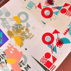 gezeever screenprint poster typography illustration gezeever open zeefdrukwerkplaats Antwerpen