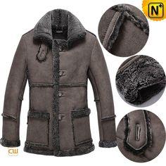 Vintage Sheepskin Coat Mens CW878258