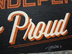 GRAPHIC AMBIENT » Blog Archive » Highlands Mural, USA #lettering #mural #todd #bryan #signwriting