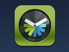 Dribbble - Everytimezone Icon by Samo Korošec #icon #iphone #ios