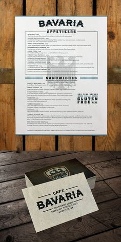 Cafe Bavaria Branding By Rev Pop #business #branding #menu #design #restaurant #cards