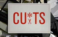 CU*TS - letterpress business card #card #business