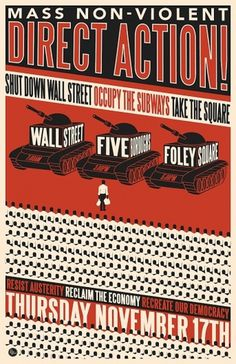 November 17th Day of Action | OccupyWallSt.org #poster #protest #tanks #occupy #wall street