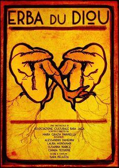 Filippo Fanciotti graphic design for Erba du Diou theater play .