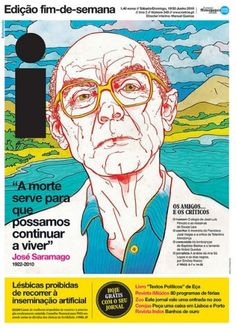 Front Page: Saramago Death | Flickr - Photo Sharing! #design #newspaper