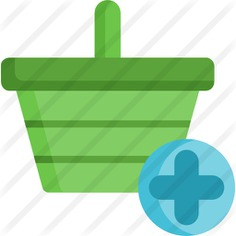 See more icon inspiration related to add cart, commerce and shopping, shopping basket, store, container, basket, purchase, shop and shopping on Flaticon.