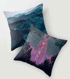 Mountain and night sky prints