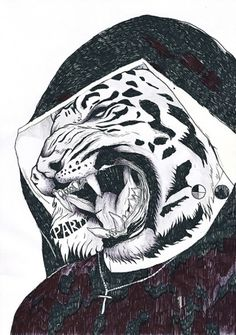 All sizes | Party! Sister | Flickr - Photo Sharing! #raimondi #cross #thomas #illustration #tiger #drawing #party