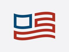 Made in Modern America - by Justin Block #white #red #america #icon #flag #logo #usa #blue