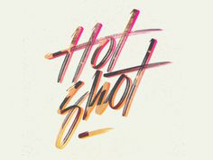 Hot Shot - Mike Greenwell #handLettering #typography