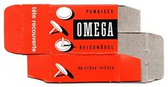Packaging / Red box. #cardboard #packaging #orange #box #pin #omega #tack