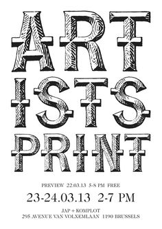 Artists Print 2.01 #design #typography