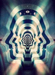 Tim Jarvis » Leif Podhajsky #psychdelic #podhajsky #artwork #leif #ascension #collage #stripe