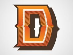 Dribbble - D by Chris Rushing #caps #dropcap #lettering #letters #initial #type #typography