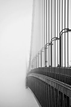 distracted. #white #black #photography #and #bridge #places