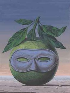 The Art of The Surreal Evening Sale | Fine Art Auction | Search Results | Christie's #eyes #fruit #illustration #mask #painting #leaves