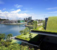 CJWHO ™ (Unique Sloping Roof Garden + Meera Sky Garden...) #design #roof #architecture #garden #singapore #green