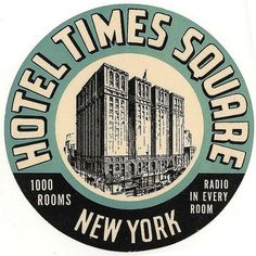 Typography / hotel times square new york