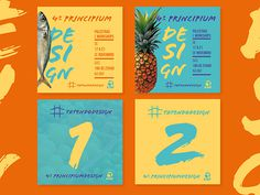 4º Design Week - FA7 on Behance #market #week #fruit #design #graphic #art #pineapple #weekend