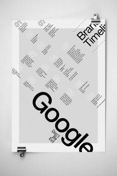 Google Infographics Poster | JAMES MILLER #miller #typography #design #black #james #posters #google #grey