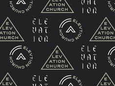 dribbble.com — Branding elements for Elevation Church by Jacob Boyles, cleverly adding a second color to individual pieces of Text and play off the font's modular construction.