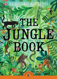 Rediscover Puffin Classics – The world's favourite stories | Creative Boom #cover #illutration #jungle #typography