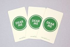 Dear Me Brasserie on the Behance Network #brand #cards #identity #green