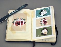 Sketches - Moleskine research - graphicwand #graphicwand #card #note #book #illustration #moleskine #game