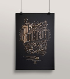 Pantheon – a laser etched poster - Fonts In Use