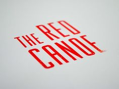 design work life » cataloging inspiration daily #logo #red #typography