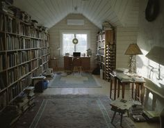 mamiya 7II | Flickr - Photo Sharing! #bookcase #books #library #attic