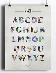 FeatherType (Free Font) on Behance #type #illustration #font #feather