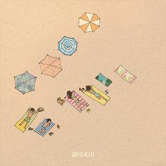 sandbed ❑ illustration by @iSKiii