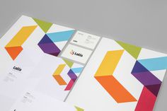 Latis Brand Identity designed by She Was Only #logo #color #geometry