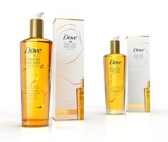 Dove Oil #beauty #packaging #hair #cosmetic #oil