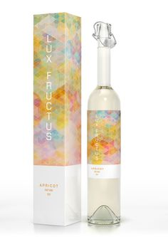 CUBEN Space / Lux Fructus: Fruit Wine Packaging on Behance #packaging #pattern #fractal #wine