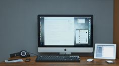 Workspace Setup #office #mac #home #workspace