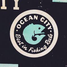 Ocean City Seal #seal #fish #badge