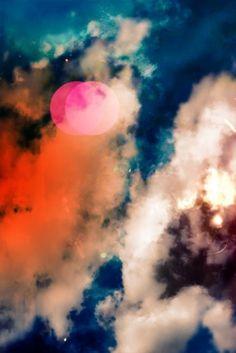 Sara Lindholm #clouds #color #moon