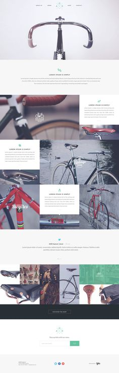 Free one page PSD template by Yebo! – Bicycle #ux #psd #free #design #ui #template #web