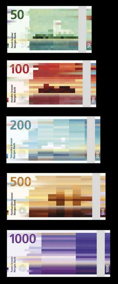 The new norwegian currency design. #design #norwegian #currency