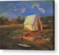 Morning Acrylic Print featuring the painting Morning 1914 by Korovin Konstantin