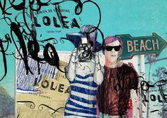 Sangría Lolea Art by Milena Michalowska 09 #sangria #collage #lolea #poster