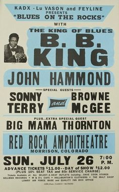 BB King Globe Poster Classic Screenprint by GlobePoster on Etsy #concert #poster #blue #king #typography