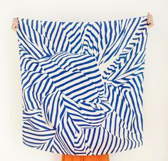 "Stripe Furoshiki Navy. ""Furoshiki"" Japanese multi wrapping cloth and scarf. #scarf #abstract #blue"