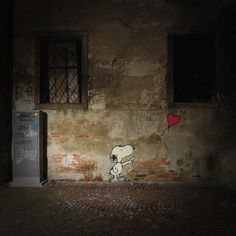 Snoopy Street Art (Author Unknown) #snoopy #art #street