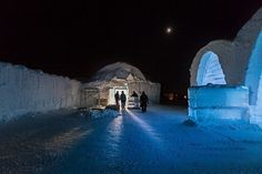Building of the ICEHOTEL #hotel #ice #art